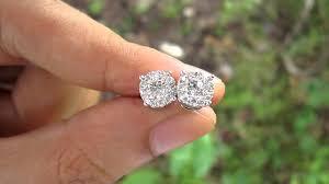 illusion earrings diamond 1 25 carat illusion diamond hkg setting gold earrings