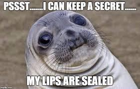Secret Meme - awkward moment sealion meme imgflip