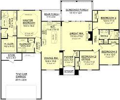 floor plans 2000 square house plan 041 00082 european plan 2 000 square 4