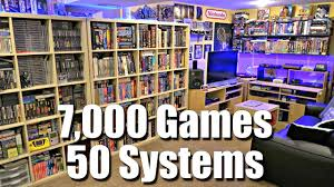 game room tour 7 000 games 50 systems metal jesus rocks