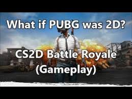 pubg 2d what if pubg was 2d cs2d battle royale gameplay youtube