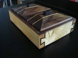 hand crafted double dovetail precious herb box hard maple black