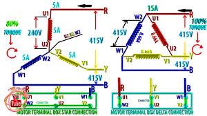symbols splendid delta connection for induction motor