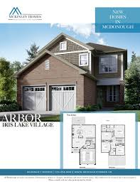 Arbor Homes Floor Plans by Iris Lake Village Mcdonough U2013 Mckinley Homes