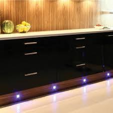 4 x led kitchen under cabinet modern chrome plinth light kit