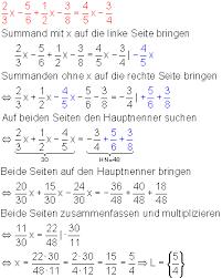 br che umformen lineare gleichungen
