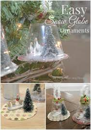 easy snow globe ornaments all things and home