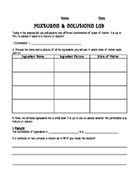 the following science lab activity sheet is designed for students