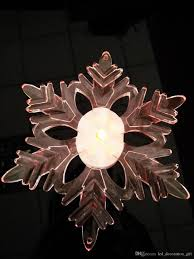 new brand low price led window suction snowflake decoration light