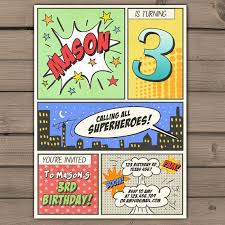 superhero birthday invitations reduxsquad com