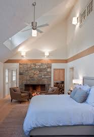Lighting Cathedral Ceilings Ideas Lighting For Vaulted Ceilings Bedroom Eclectic With Bed Ceiling