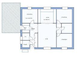 plan maison plain pied en l 4 chambres maison 90m2 plain pied
