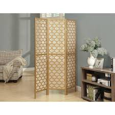 monarch specialties 5 92 ft gold 3 panel room divider i 4638