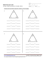 addition and subtraction facts worksheets worksheets