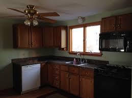 under 350 kitchen makeover u2013 part two painted kitchen cabinets