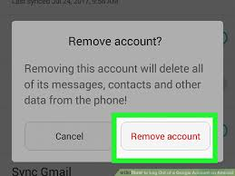 remove account from android phone how to log out of a account on android 7 steps