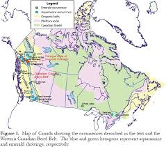 Production Map Gem Quality Mining Countries Emerald And Aquamarine Mineralization In Canada Groat Geoscience
