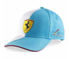 ferrari hat ferrari two color cap alonso logo white blue brands for less