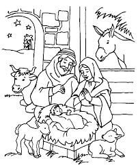 ideas free printable nativity coloring pages kids print