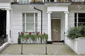House Styles Architecture Doorway Entrance To Victorian Style Architecture House In London