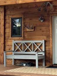 ana white large porch bench alaska lake cabin diy projects
