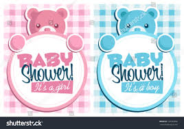 Baby Shower Invitation Card Baby Shower Invitation Card Stock Vector 107322056 Shutterstock