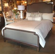 Macys Upholstered Headboards by Solid Wood Bed With Upholstered Headboard And Footboard By Hgtv