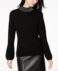 charter sweater charter pearl embellished sweater created for