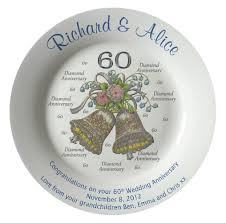 personalized anniversary plates personalized bone china commemorative plate for a 60th