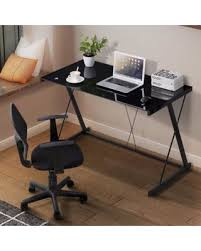 metal computer desks workstations deal alert mecor glass top computer desk z shaped metal legs pc
