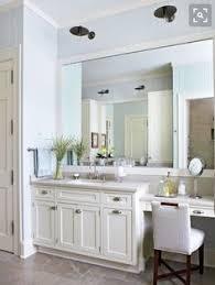 Bathroom Vanity Makeup Gray Bath Vanity With Lucite Stool Transitional Bathroom