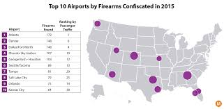 Florida Dca Map by Mapping The 22 000 Weapons Confiscated At U S Airports In 2015