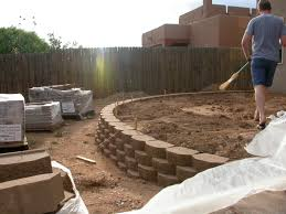 retaining wall ideas for sloped backyard pictures amys office