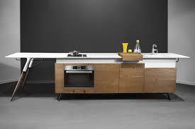 contemporary kitchen metal wooden corian kitch u0027 t
