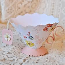tea cup favors paper teacup party favor make lovely