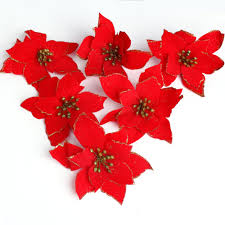 cheap red flower christmas decoration find red flower christmas