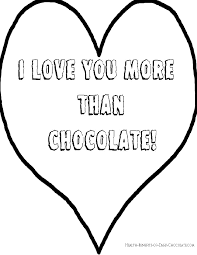 chocolate valentine coloring pages