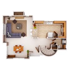 Residential Building Floor Plans by 3d Colored Floor Plan Architecture Colored Floor Plan