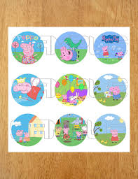 1 99 download peppa pig cupcake toppers birthday instant