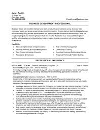 Business Resume Example by Free Business Resume Template