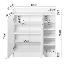 White Shoe Storage Cabinet 2 Doors Shoe Cabinet Storage Cupboard White Wholesales Direct
