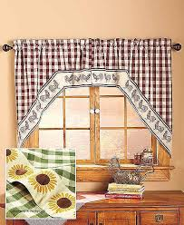 Sunflower Yellow Curtains Sunflower Curtains Window Treatments Luxury Swag Style Country