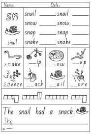 activity sheet blend sn click to download speech therapy