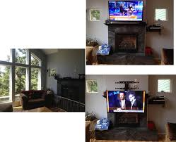 mounting tv over gas fireplace is it ok im getting so many diffe