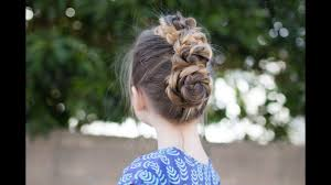 triple bun updo homecoming hairstyles easy diy hairstyle