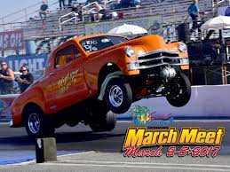 monster truck drag race 2017 good vibrations motorsports march meet drag racing scene