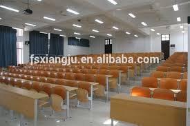 Lecture Hall Desk Aluminium Alloy Modern University Lecture Hall Student Desk Front
