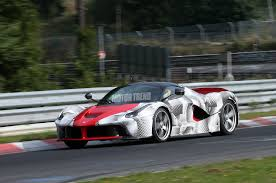 gold ferrari laferrari ferrari laferrari testing on the nurburgring could it beat porsche