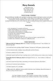 Working With Children Resume Professional Behavior Specialist Templates To Showcase Your Talent