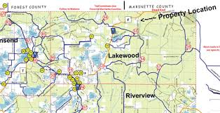 Wisconsin State Parks Map by 10 Acres In Oconto County Wisconsin